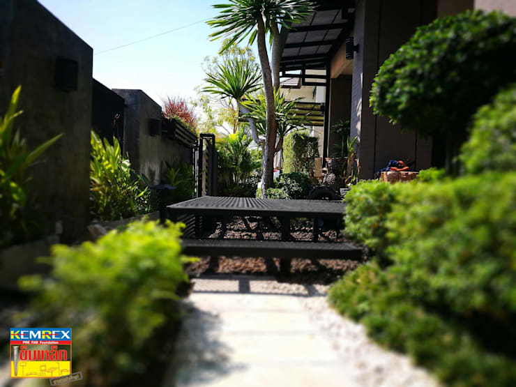 งานฐานราก Terrace บ้านคุณพรชัย:   by บริษัทเข็มเหล็ก จำกัด