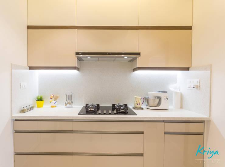 3 BHK apartment—RMZ Galleria, Bengaluru:  Kitchen by KRIYA LIVING