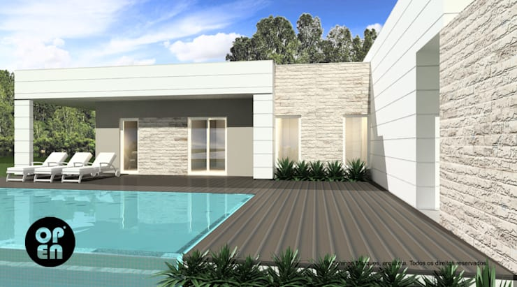 Piscines  de style  par ATELIER OPEN ® - Arquitetura e Engenharia, Moderne