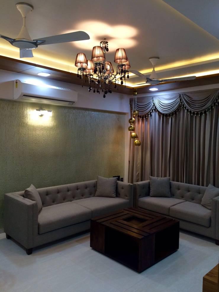 leela palak:  Living room by Hightieds,Modern