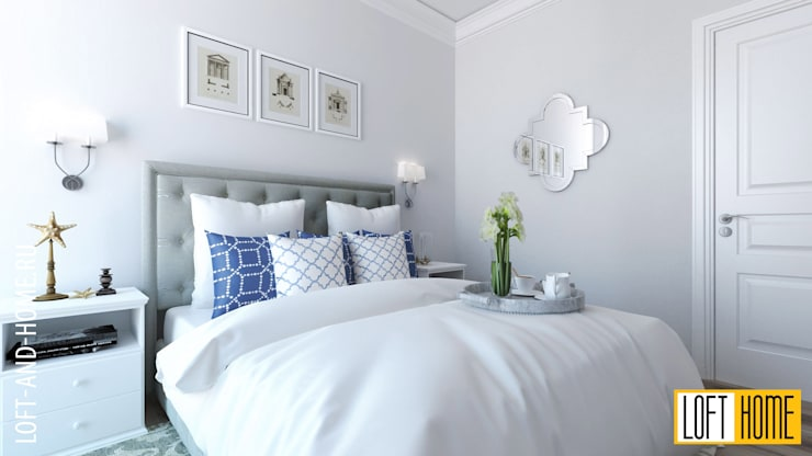 ТАУНХАУС, КЕМБРИДЖ, НЕОКЛАССИКА: Спальни в . Автор – Loft&Home