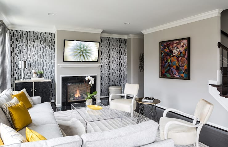 Viva Vogue - Living Room: modern Living room by Lorna Gross Interior Design