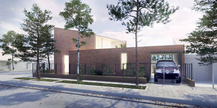 VIVIENDA UNIFAMILIAR EN CIPOLETTI: Casas de estilo  por CCMP Arquitectura,