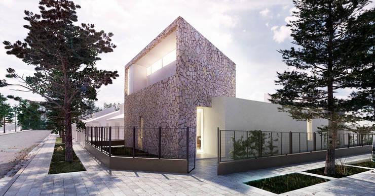 VIVIENDA UNIFAMILIAR EN CIPOLETTI: Casas de estilo minimalista por CCMP Arquitectura