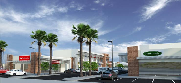 Espacios comerciales de estilo  por Acrópolis Arquitectura, Minimalista