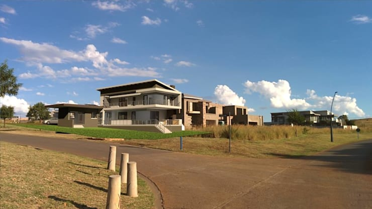 View from Eye of Africa Road turning into Hoepoe Way — at Eye of Africa Golf Estate.:   by Seven Stars Developments