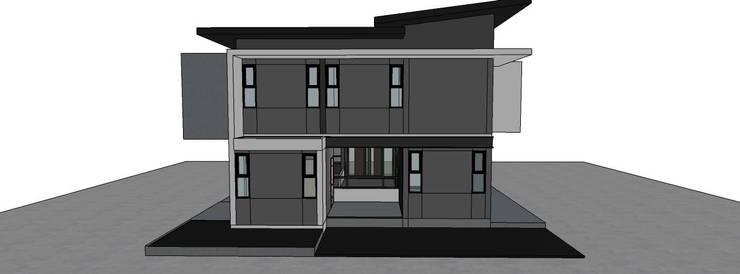 อาคารพักอาศัย 2 ชั้น นครศรีธรรมราช:   by บ้านสำเร็จรูป บริษัท เดอะคัสตอม จำกัด