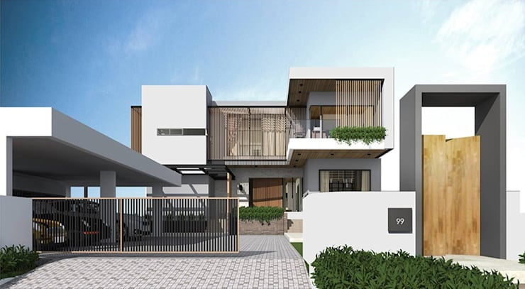 RAMINTRA RESIDENCE:   by Apluscon Architects Ltd