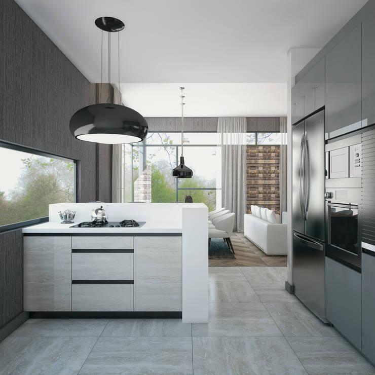 Projekty,  Kuchnia zaprojektowane przez Voltaj Tasarım