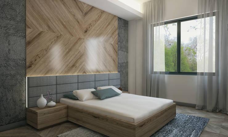 Projekty,  Sypialnia zaprojektowane przez Voltaj Tasarım
