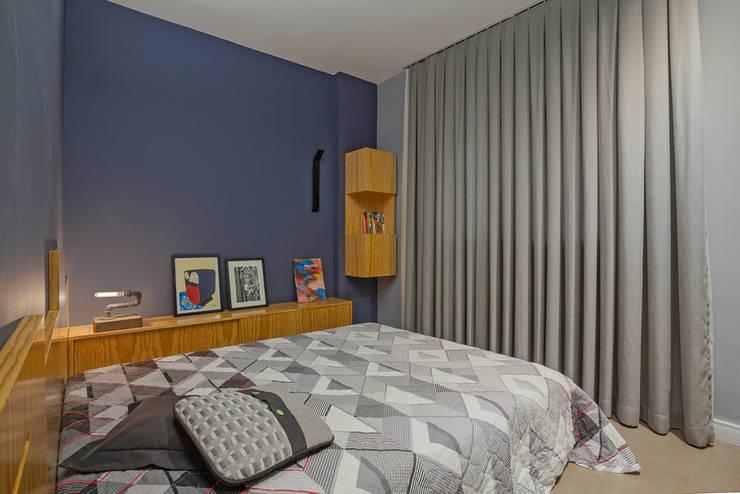 Cuartos de estilo  por Botti Arquitetura e Interiores-Natália Botelho e Paola Corteletti