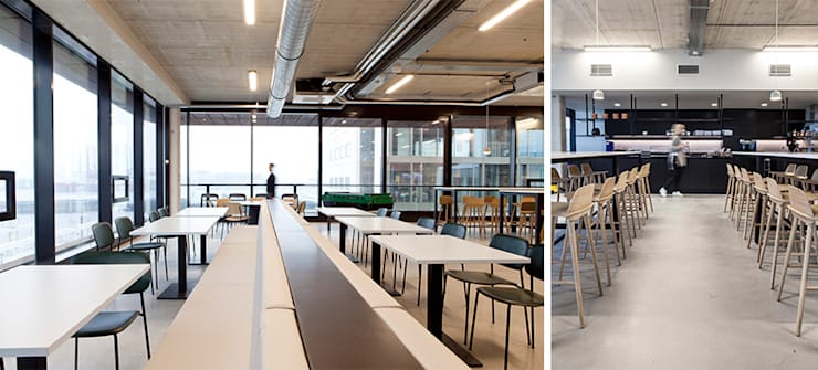 Kantoor Pand Houthavens:  Kantoor- & winkelruimten door Binnenvorm