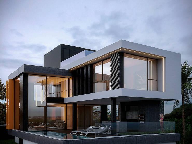 Platibanda ou telhado 7 lindas fachadas para te ajudar for Fachadas de casas modernas a desnivel