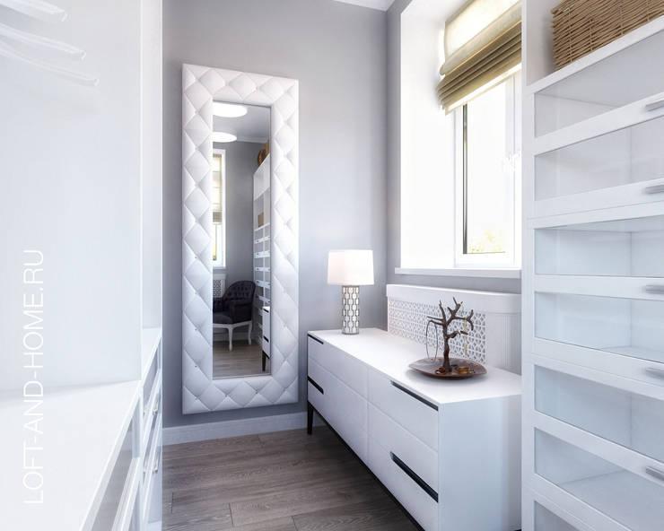 Vestidores y closets de estilo industrial por Loft&Home