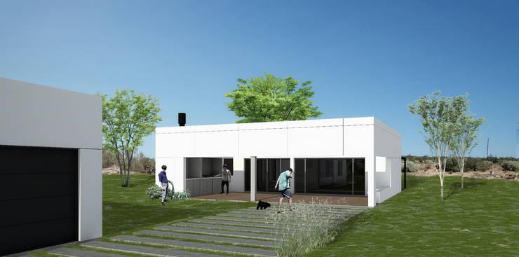 Vivienda LOU: Casas de estilo  por BDB Arquitectura