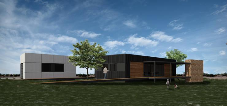 Vivienda GO: Casas de estilo moderno por BDB Arquitectura