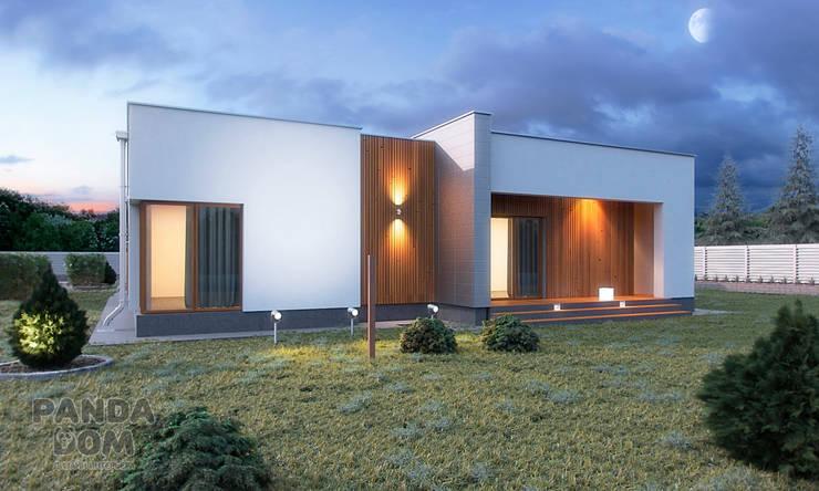 Современный дом в стиле минимализм: Дома в . Автор – дизайн-студия PandaDom