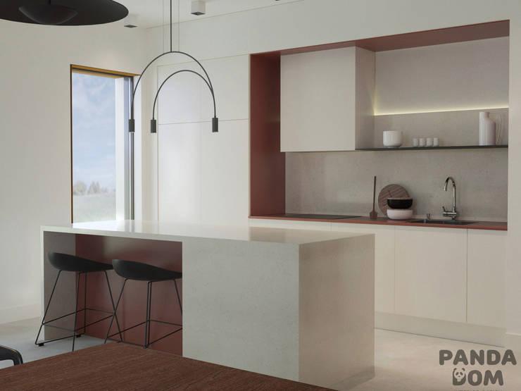 Современный дом в стиле минимализм: Кухни в . Автор – дизайн-студия PandaDom