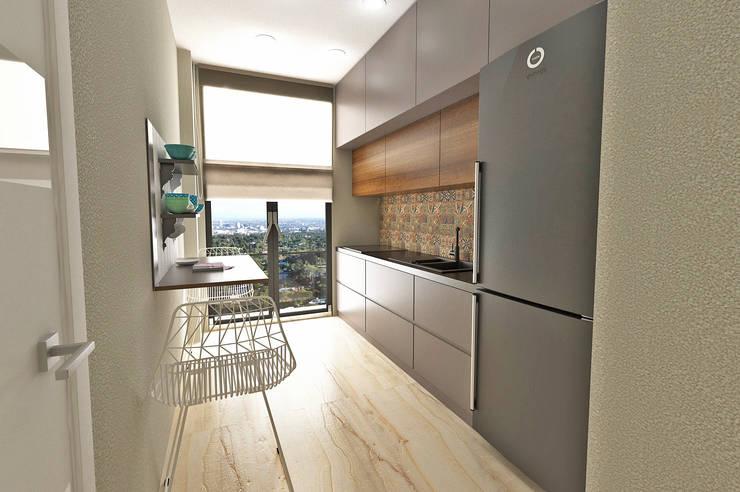50GR Mimarlık – halkalı_1+1 daire: modern tarz Mutfak