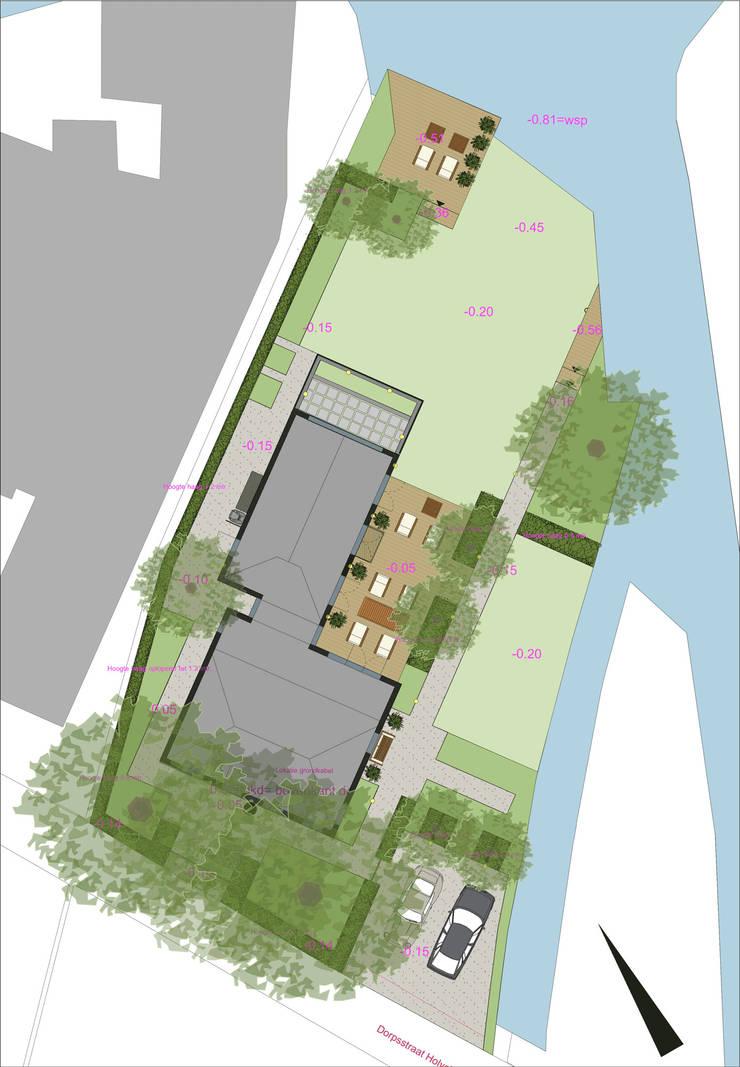 Landschapstuin Holysloot:  Tuin door Studio-B-Gardens