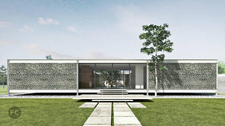 Renders casa Rosen:  de estilo  por FOCO ,