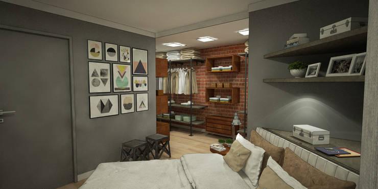 Cuartos de estilo  por Treez Arquitetura+Engenharia