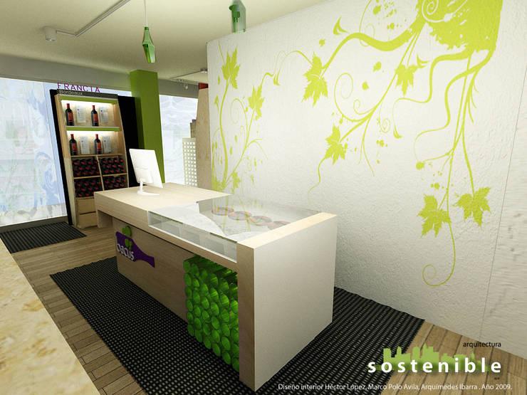 Mostrador: Oficinas y tiendas de estilo  por ARQUITECTURA SOSTENIBLE, Moderno