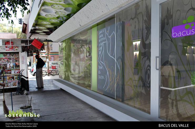 Fachada: Oficinas y tiendas de estilo  por ARQUITECTURA SOSTENIBLE, Moderno