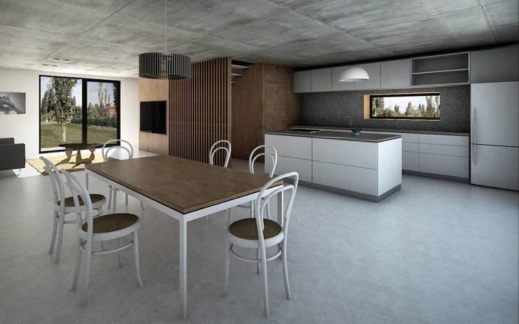 Vivienda Cabox: Comedores de estilo  por BDB Arquitectura,
