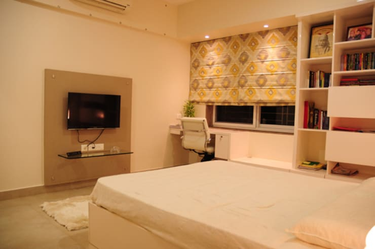 Forest Park Residence, Bhubaneswar:  Bedroom by Schaffen Amenities Private Limited,Modern