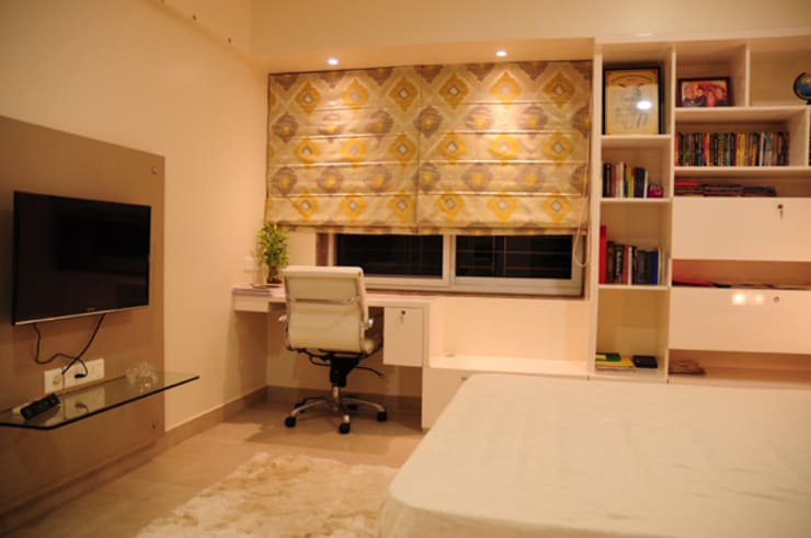 Forest Park Residence, Bhubaneswar:  Living room by Schaffen Amenities Private Limited,Modern