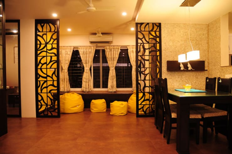 Forest Park Residence, Bhubaneswar:  Dining room by Schaffen Amenities Private Limited,Modern