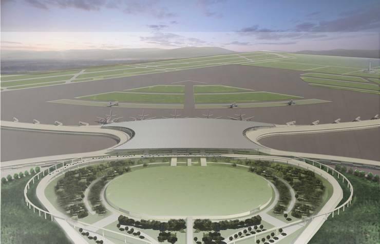 Aeropuerto D2: Aeropuertos de estilo  por TECNICAD ARQUITECTURA