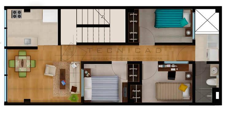 Apartamento Santamaria:  de estilo  por TECNICAD ARQUITECTURA
