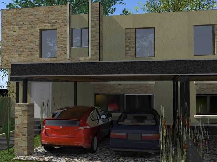 Duplex AB: Casas de estilo  por Arq. Gerardo Rodriguez,