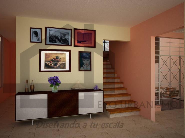 interior planta baja: Estudios y oficinas de estilo  por Ecourbanismo, Clásico