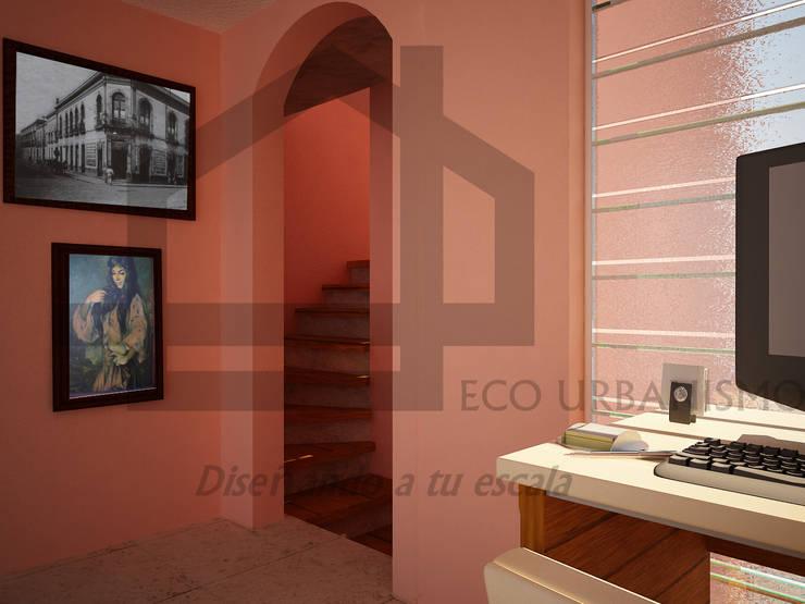 remodelación de escalera: Estudios y oficinas de estilo  por Ecourbanismo, Clásico