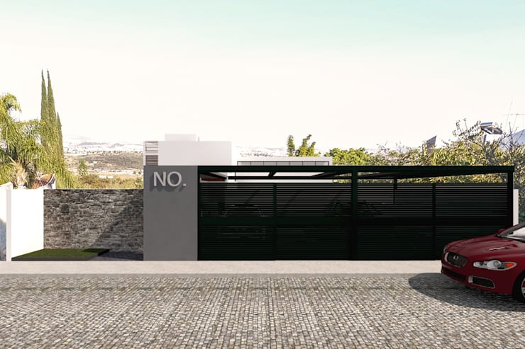 Fachada - Vista de la calle: Casas de estilo  por Bloque Arquitectónico, Moderno