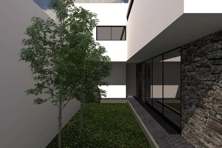 Jardín / Entrada a la casa: Jardines de estilo  por Bloque Arquitectónico, Moderno
