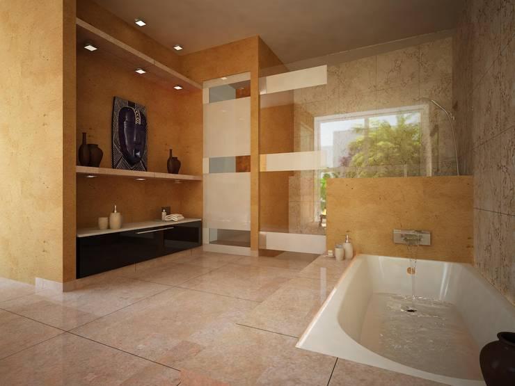 BAÑOS: Baños de estilo  por Ecourbanismo, Minimalista