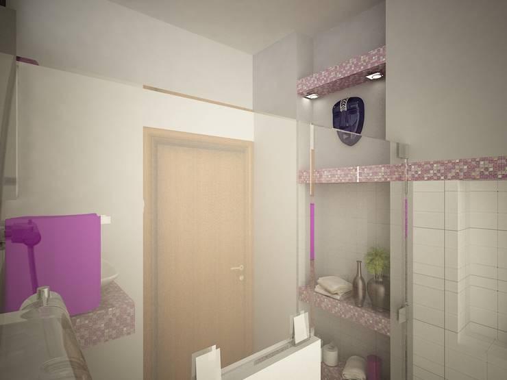 Casa V & Y: Baños de estilo  por Ecourbanismo