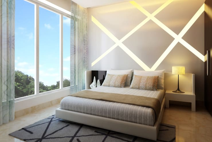 modern Bedroom by Koncept Architects & Interior Designers,
