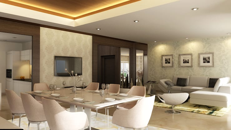 modern Dining room by Koncept Architects & Interior Designers,