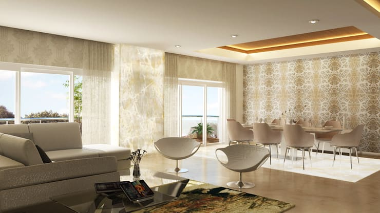 modern Living room by Koncept Architects & Interior Designers,