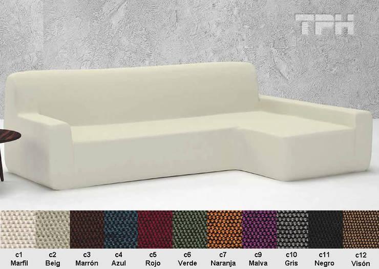 9547c7642b16 Funda Chaise longue Viena: Salones de estilo de TPH fundas de sofá