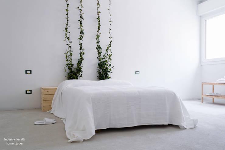 غرفة نوم تنفيذ federica basalti home staging