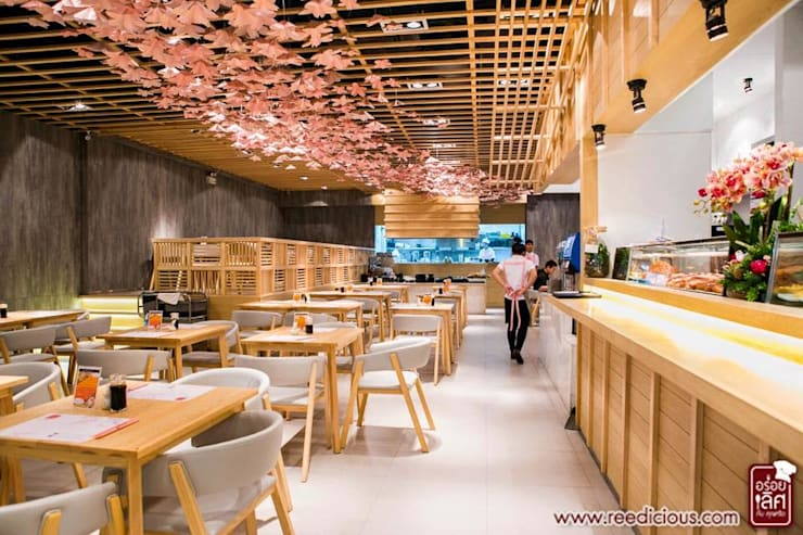 Neta fish and meat @ The street Rachada:  ตกแต่งภายใน by  good space  plus interiror- architect co.,ltd