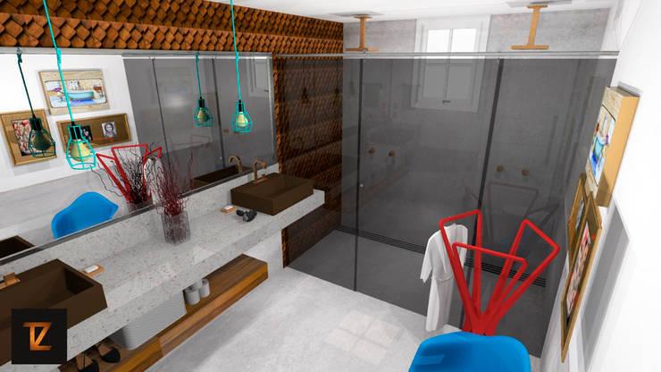 Salle de bain moderne par Thiago Zuza Design de interiores Moderne Béton