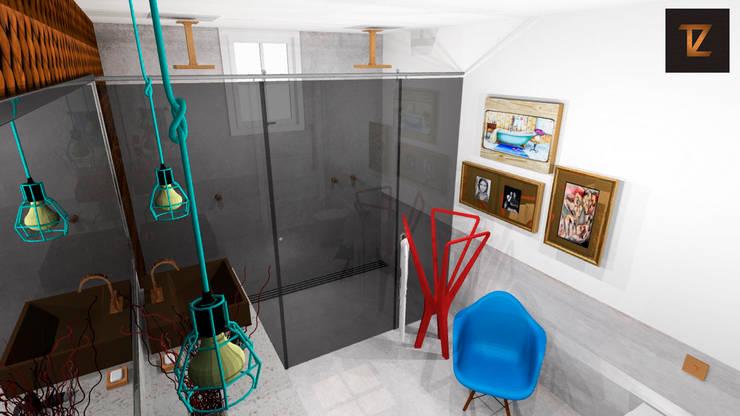 Salle de bain moderne par Thiago Zuza Design de interiores Moderne Métal