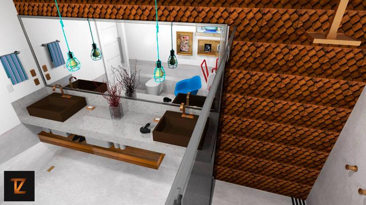 Salle de bain moderne par Thiago Zuza Design de interiores Moderne Céramique